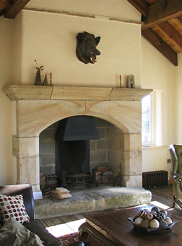 WILD BOAR FIREPLACE